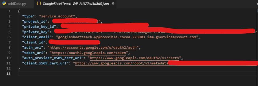 JSON 檔案內容樣子