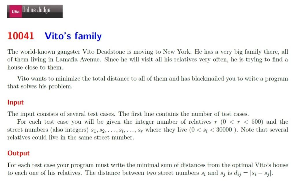 10041 Vito's family CPE 一顆星必考題 題目